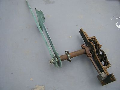 Antique set of J B Joyce Turret clock dial motion works with copper hands