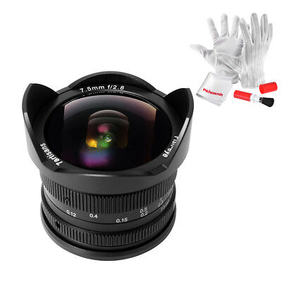 7artisans 7.5mm f/2.8 Manual focus Fisheye Lens for Canon Cameras+ Cleaning Kit