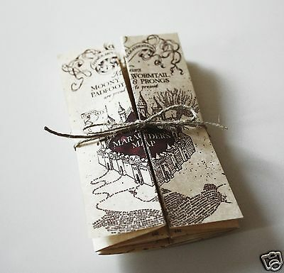 Marauder's Map Harry Potter ** MINI ** Collectible Parchment Paper Map - NEW