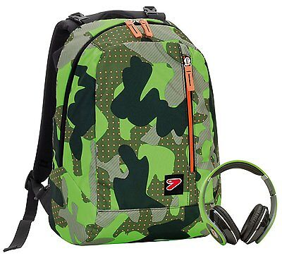 Zaino Reversibile SEVEN THE DOUBLE - COLOR CAMOUFLAGE - Verde - cuffie coordinat