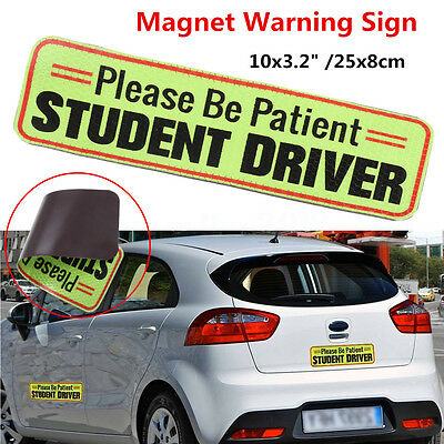 Please Be Patient Student Driver Magnetic Car Bumper Sign Safety Decal  25x8cm