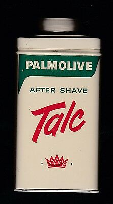"Vintage Palmolive, After Shave Talc tin, 3.25 oz. Very good shape. 4"" tall."