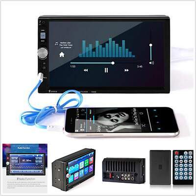 2 Din 7 inch Touch Screen FM Bluetooth Radio Audio Stereo Car Video MP5 Player