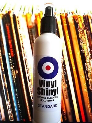 Vinyl Shinyl Record Cleaner - 200ml Spray Bottle with free Microfibre Cloth
