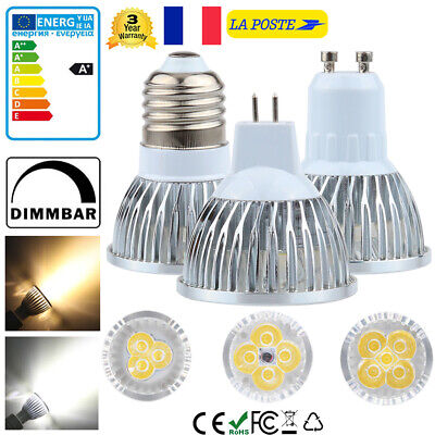 10x 20x GU10 MR16 E27 LED Ampoule Lampe 9W 12W 15W Downlight Spot light Bulb
