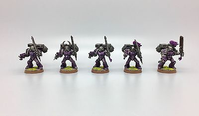Warhammer 40,000 Chaos Space Marines Assault Squad Raptors Emperors Children X 5