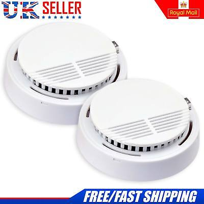 New 2x Wireless Fire Detectors Smoke Alarm Ionisation with 2 Batteries Included
