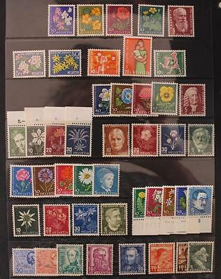 Switzerland 1937-1962 10 Sets Childrens Charities MNH