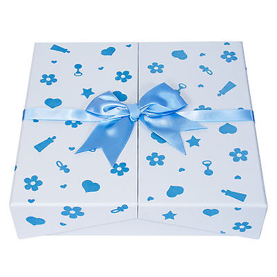 "Baby Boy Blue Keepsake Box Photo Album 200 Photographs 6"" x 4"" Picture Book"