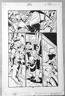 Original art ROBIN #97 pg 18 Pete Woods