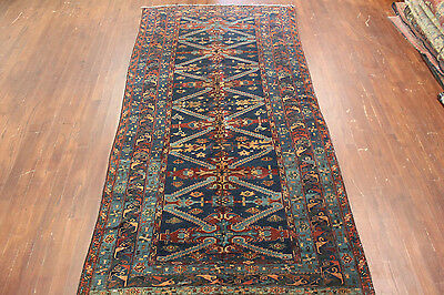 Authentic Hand Made Antique Persian Caucasian 5'1 X 10'4  Runner Wool Rug Carpet