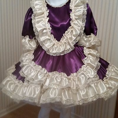 Adult Sissy Baby purple Satin make to fit