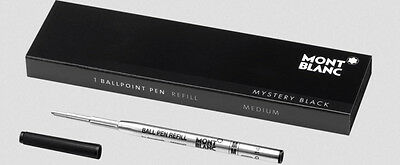 Montblanc  Ballpoint Refill  Mystery Black Medium Point New In Box105150
