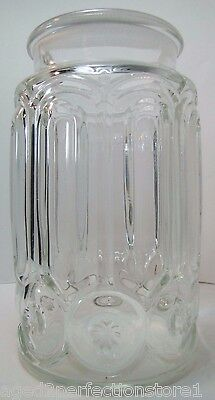 Antique Apothecary Candy Jar large glass drug store pharmacy starbust imprint