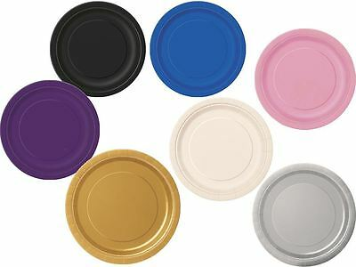 """Plain 9"""" Disposable Plates for Picnic Party Birthday Anniversary (Pk of 16)"""