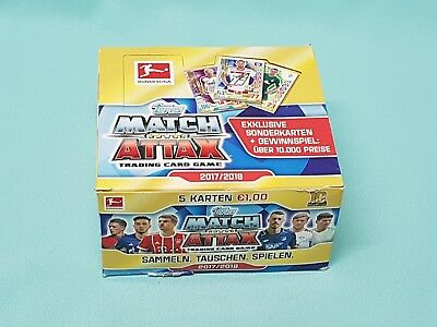 Topps Match Attax 2017/2018  1 x Display mit 36 Booster 17/18 Neu