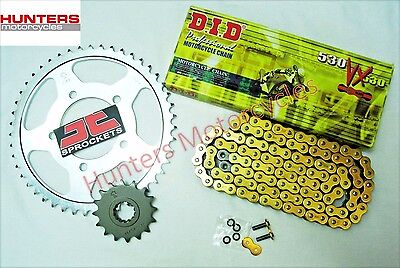 Honda CBF1000 DID Gold X-Ring Chain & JT Sprockets Kit Set (2006 to 2010)