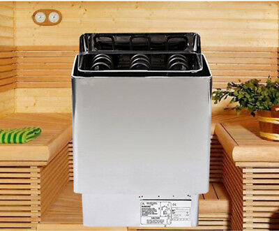 220V 6KW Sauna Heater Stove Stainless Steel with Outter Controller Home Spa