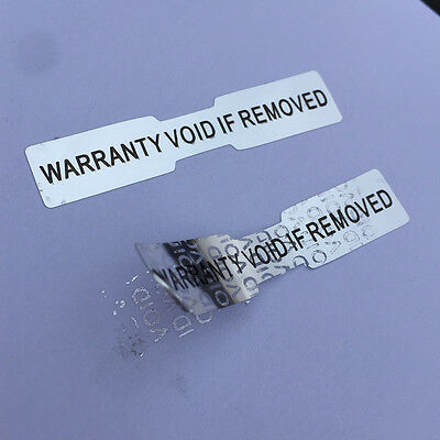 Hologram Stickers Labels Dogbone Warranty Void Labels Tamper Proof 50 mm x 10mm