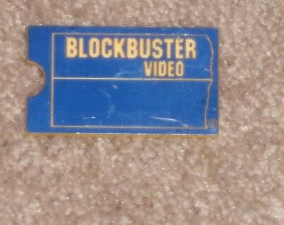 Vintage BLOCKBUSTER VIDEO Employee CSR Customer Service Rep Name Tag