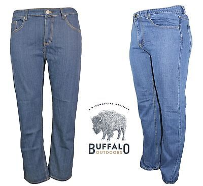 Buffalo Outdoors™ Mens Straight Leg Comfort Jeans Basic Work Denim Pants