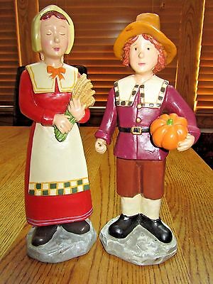 Thanksgiving Pilgrim Girl & Boy Figures!