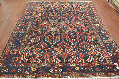 Authentic Hand Made Antique Persian Mahal 9'2 X 12' 100% Wool Area Rug Carpet