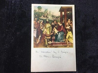 Postcard The Adoration By Euseblo Di S Giorgio 1508
