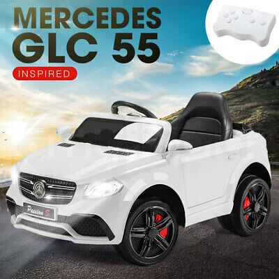 NEW ROVO KIDS Ride-On Car MERCEDES GLC 55 Inspired Electric Battery Toy White