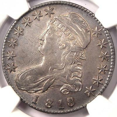 1818/7 Capped Bust Half Dollar 50C O-102a - NGC XF Details - Rare Overdate Coin