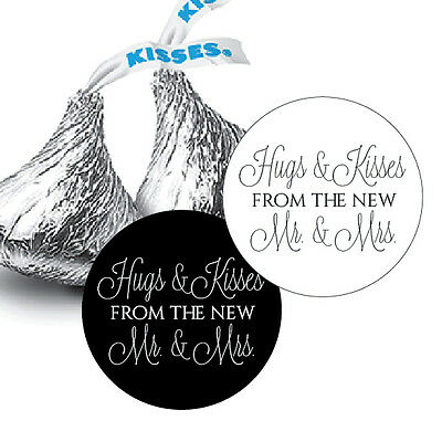 108 Hugs and Kisses from the new Mr. & Mrs. Hershey Kiss Wedding Stickers