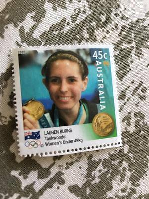 2000 Olympic Stamp Lauren Burns Australia
