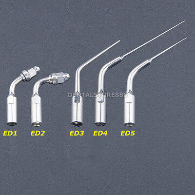 5X Endodontic Dental Ultrasonic Endo Tips ED1 ED2 ED3 ED4 ED5 For Satelec DTE E