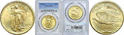 1922-S $20 Gold Coin PCGS MS-63