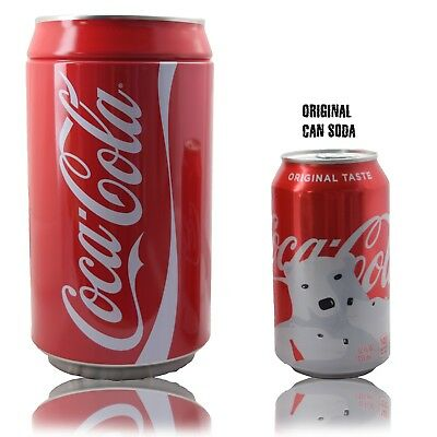 "NEW Coca-Cola can savings Piggy Bank 8"" tall"