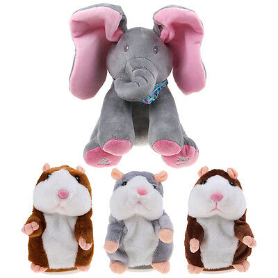 Peek-a-boo Elephant Singing Plush Toy Talking Hamster Mouse Animated Soft Toys