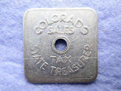 1935 • Colorado State Sales Tax Aluminum A-35 Token 1/5¢ - Nice Fast, Free Ship!