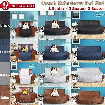 1 2 3 Seater Dog Cat Sofa Removable Slipcover Pet Seat Couch Protector Cover Mat