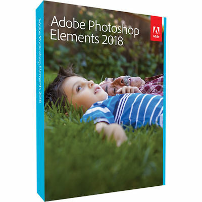 Adobe Photoshop Elements 2018 PC or MAC Full License GST INV