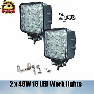 Discount 2x 48W LED Work Lamp Light Bar Flood Offroad Tractor Car Boat Truck 4WD