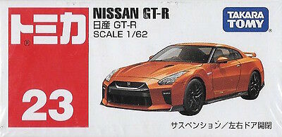 NISSAN GT-R (R35) TOMICA 1/62 SCALE by TAKARA TOMY FROM JAPAN no.23