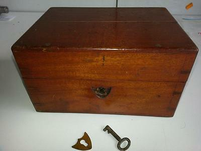 Vintage Small Wooden Medicine Bottle Chest. + 10 Asstd Medicine Bottles -Script?