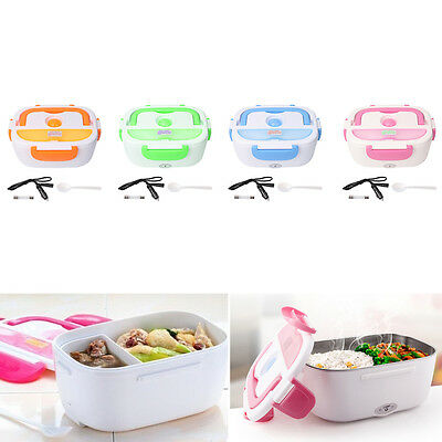 Portable 12V Car Electric Heating Lunch Box Rice Cooker Food Warmer 1.05L 40W