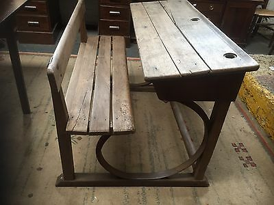 Victorian School Desk with cast iron sides