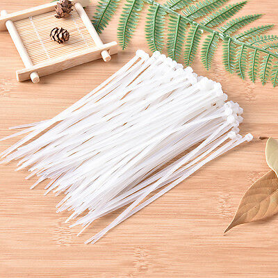 100 Pcs 2.5*150mm Electrical Cable Tie Wrap Nylon Fastening White SEAU