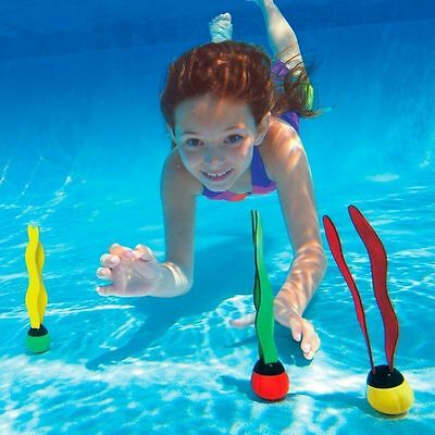 Underwater Games Multi Colour Swimming Pool Toys Diving Rings Sticks Fun Balls