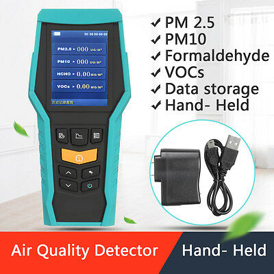 PM2.5 PM10 Portable Formaldehyde Detector Air Quality Monitor Laser Meter Tester