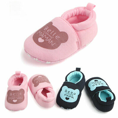 Newborn Baby Shoes Girl Boy Soft Sole Crib Prewalker Toddler Anti-Slip Sneaker