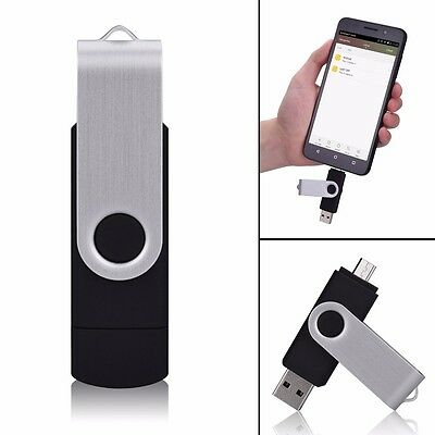 2in1 64GB USB Stick Speicher Flash Drive Memory Disk für android Handy Tablet