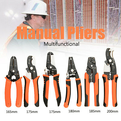 Multifunctional Manual Pliers Wire Cable Stripper Cutter Holder Crimping Clamp